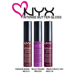 NYX Intense Butter Gloss Set of 3 Discontinued